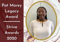 Student Jameelah McCregg head shot with award text