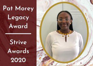 Student Jameelah McCregg head shot with award text