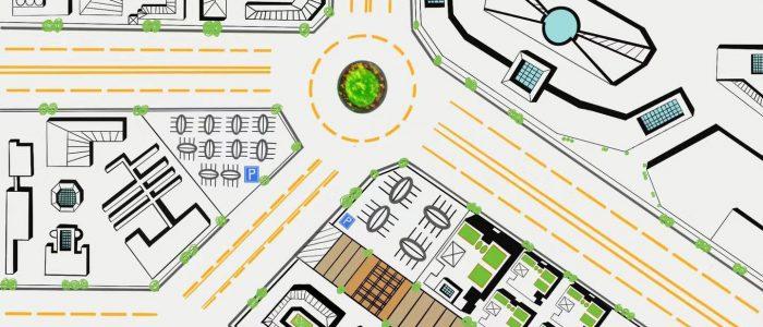 digital drawing of urban space
