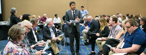 Professor Chakraborty leading a scenario planning training session at the National Planning Conference