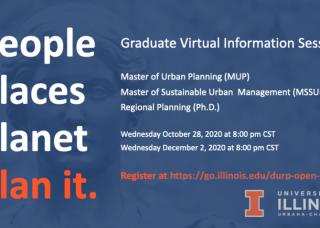 Information about DURP's Graduate Virtual Information Sessions