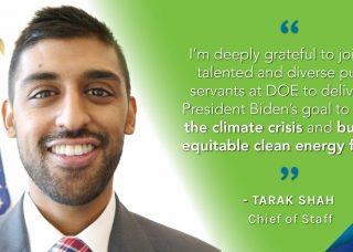 Photo of Tarak Shah with quote