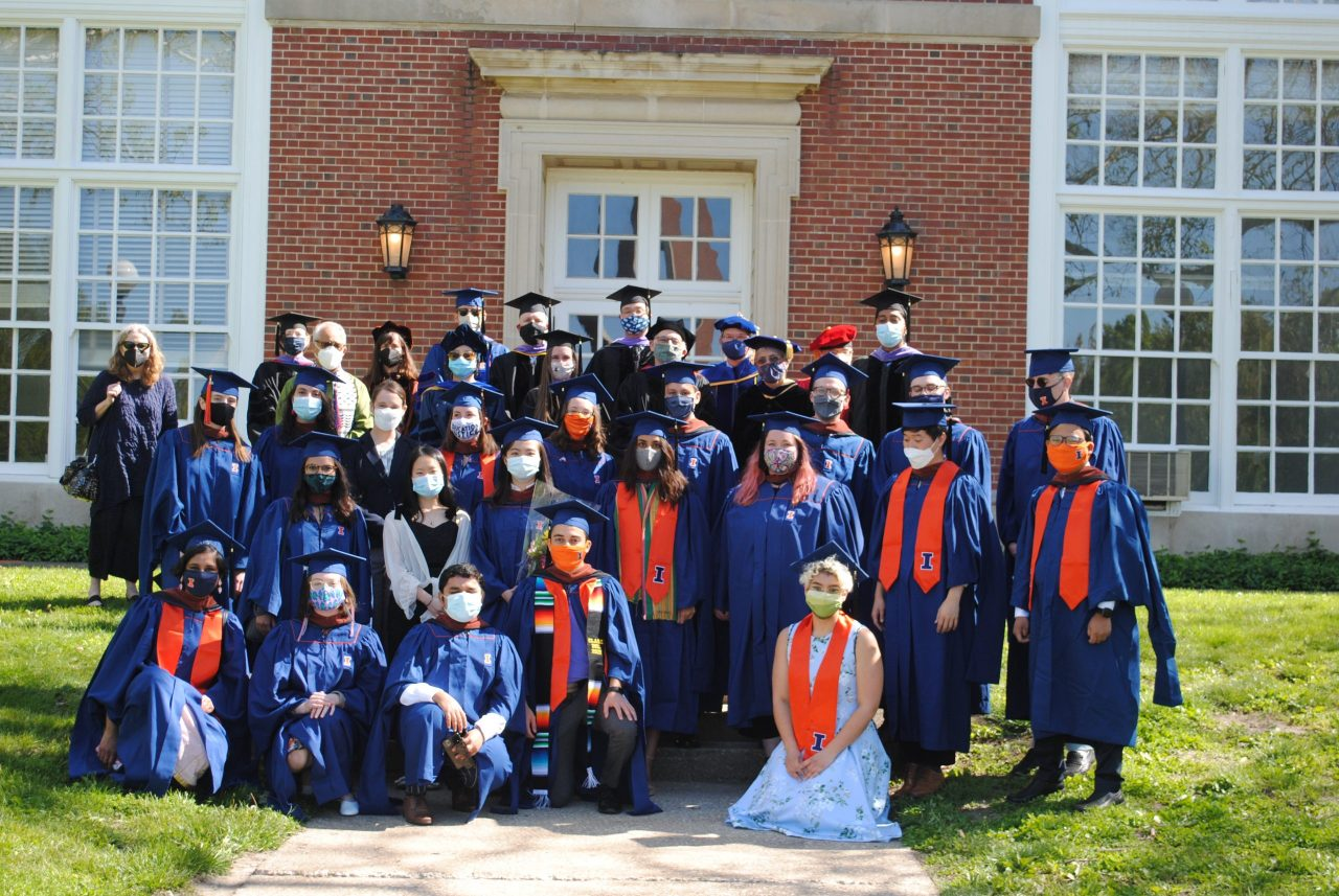 MUP graduates and faculty in front of Stock Pavilion