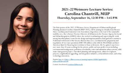 Flier with photo of Carolina announcing details of presentation