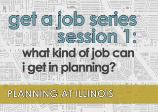 Flier for Get A Job series Session 1 with black and white map background