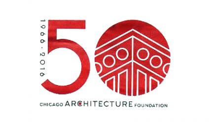 Chicago Architecture Foundation 50th birthday bash poster
