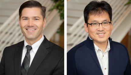 head shots of Aaron Brakke and Yun Kyu Yi