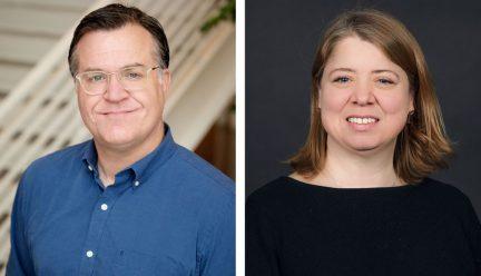 head shots of Scott Murray and Marci Uihlein