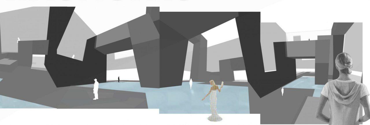 collage of angular design proposal