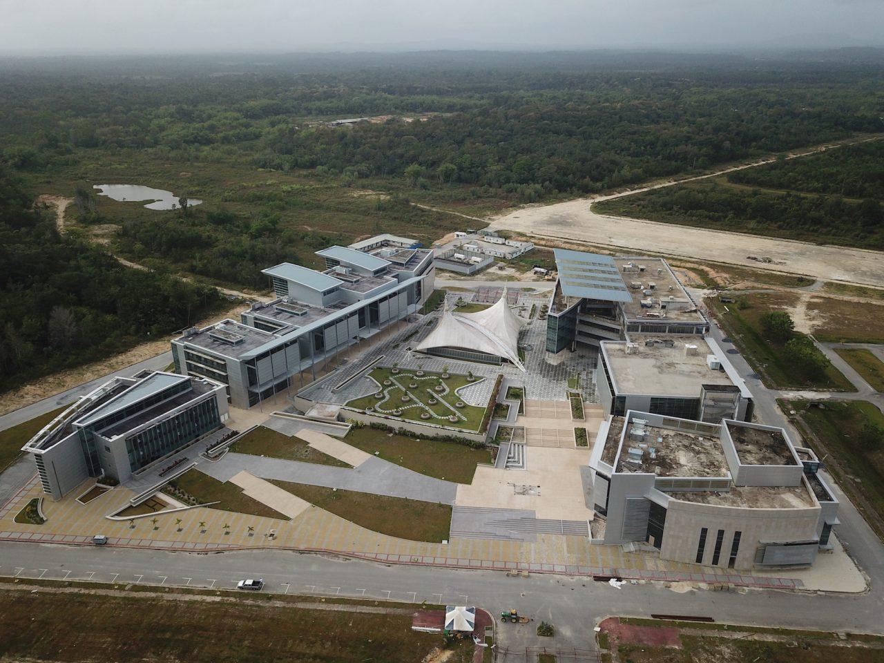 aerial of trinidad university campus