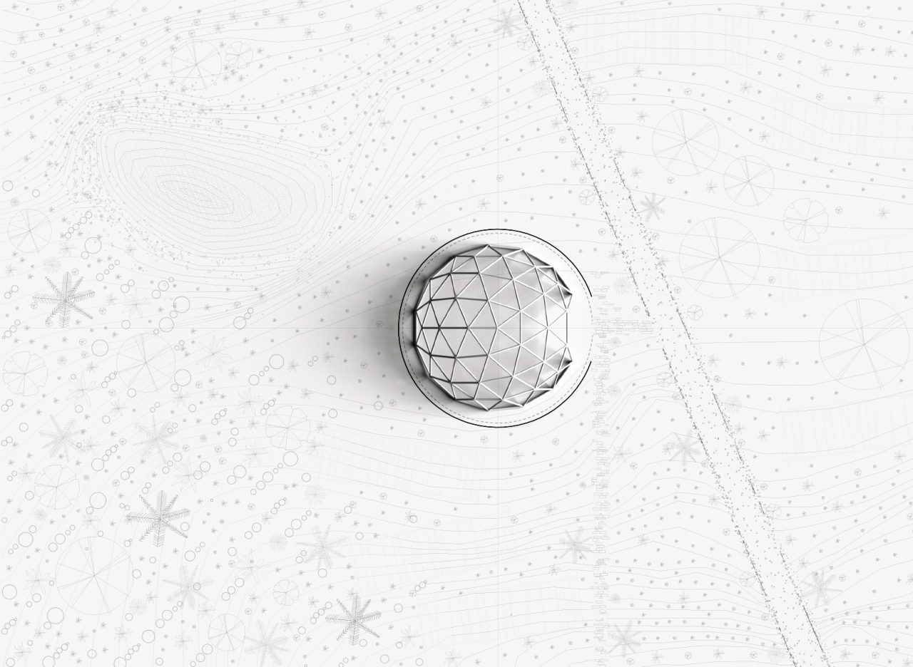 Plan image of domed circular building