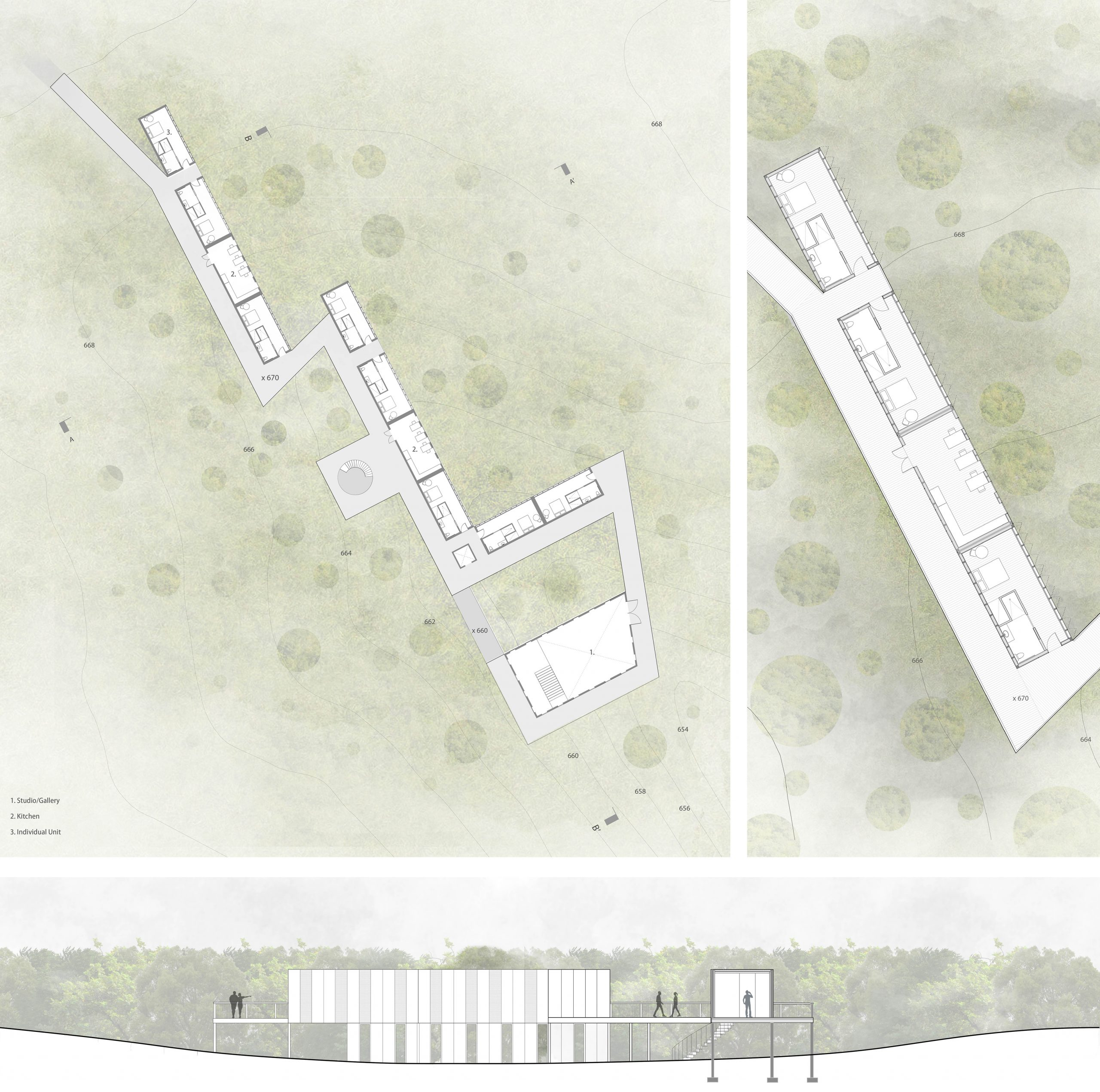building plan and section