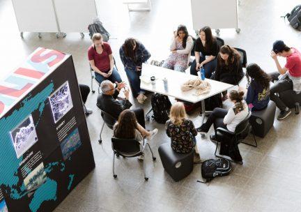 Students in the main atrium