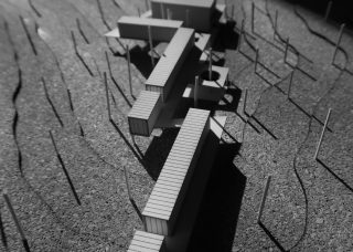 aerial view of model