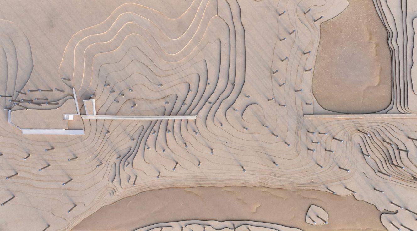top view of wood model