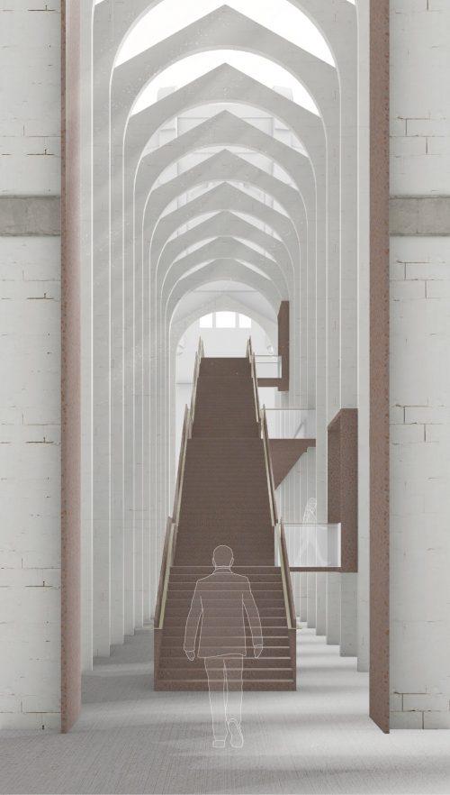 Memorial staircase