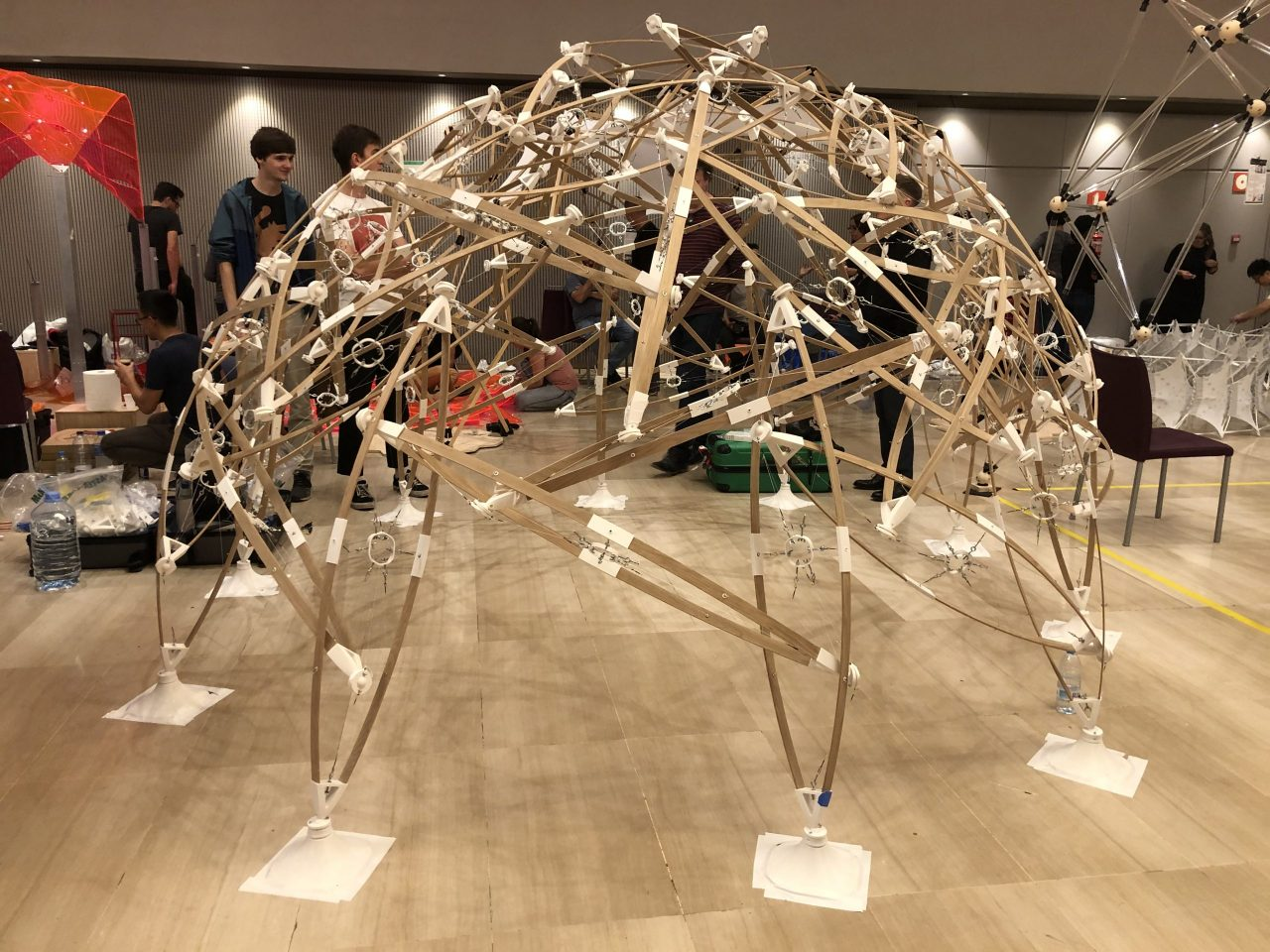Structural pavilion prototype mock-up
