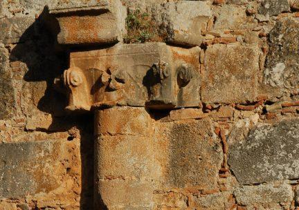 Zaraka Monastery capital detail, Greece