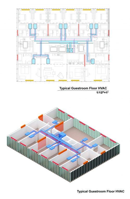 Residential floor HVAC design