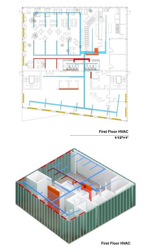 First floor HVAC design