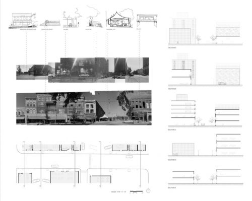 Site analysis board of street in Champaign