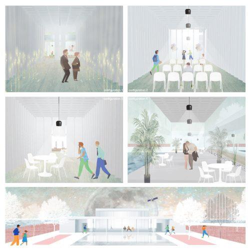 Several collage renderings