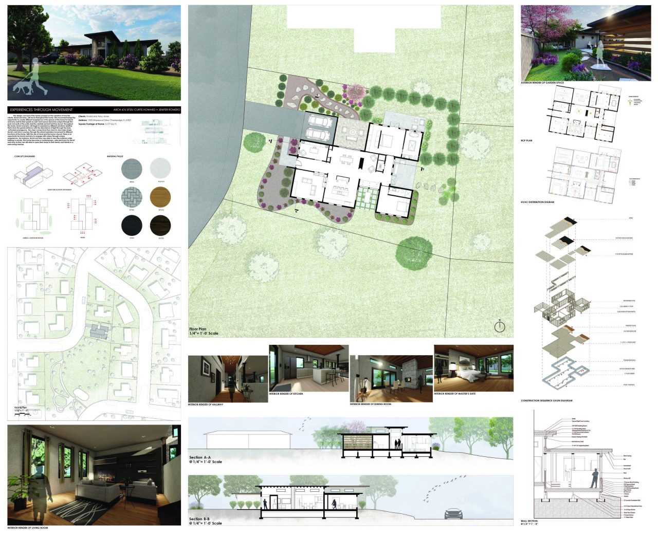 Board of residential design by Curtis Howard