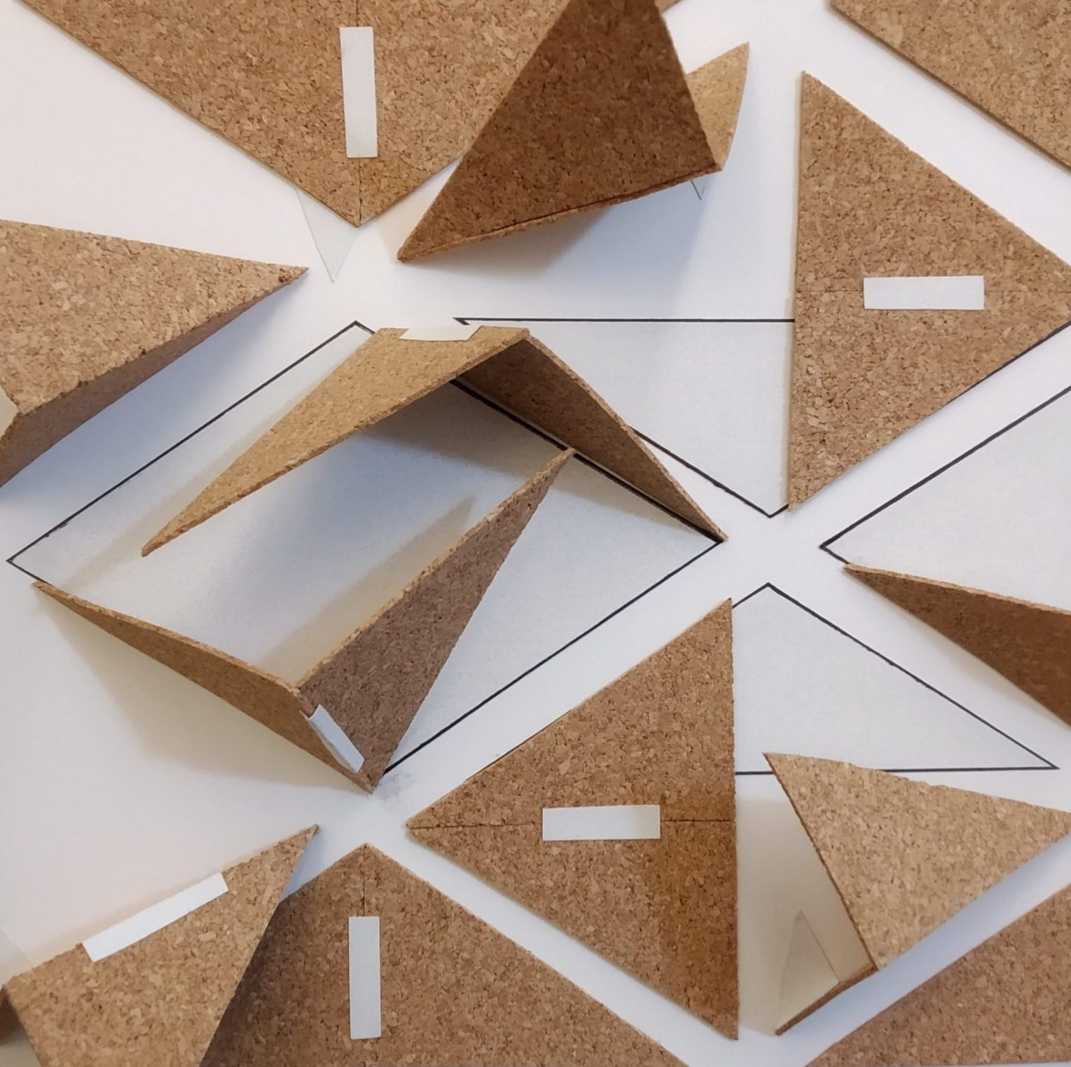 Model of cork triangles