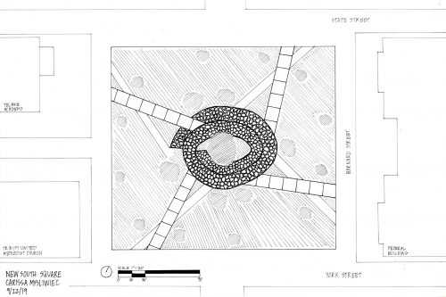 Plan of spiral intervention for Savannah square