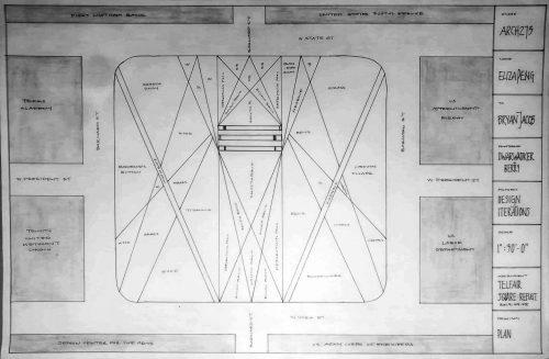 Plan of diagonal design for Savannah square