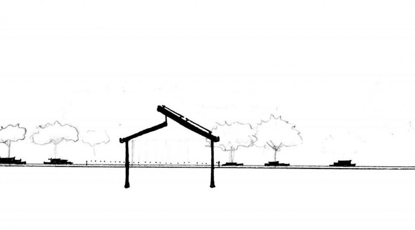 Pavilion cross section