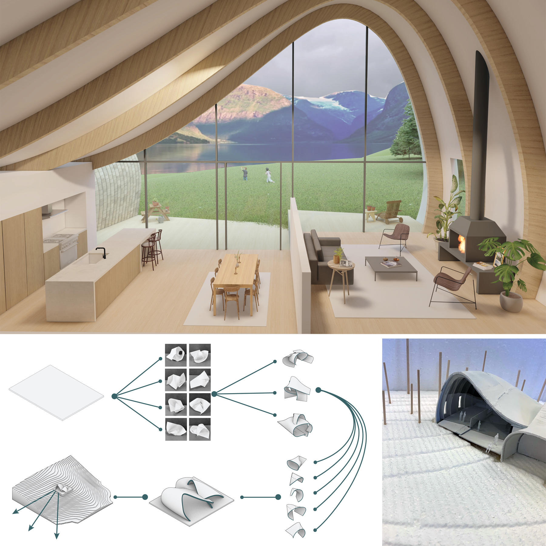 renderings and model