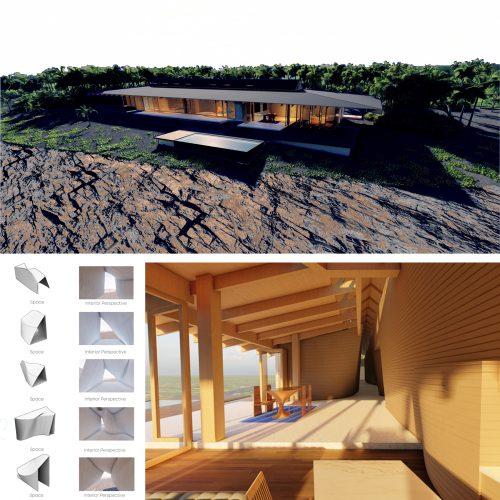 renderings and material palette
