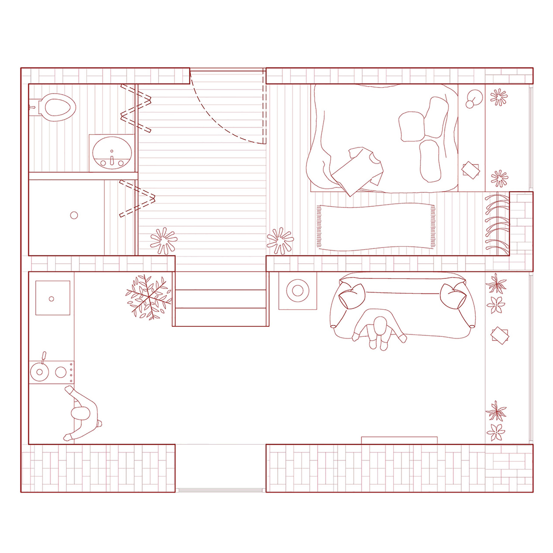 Floor plan of dwelling unit