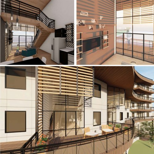 interior and exterior renderings