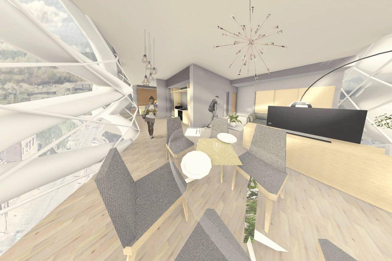 Rendering of domestic interior