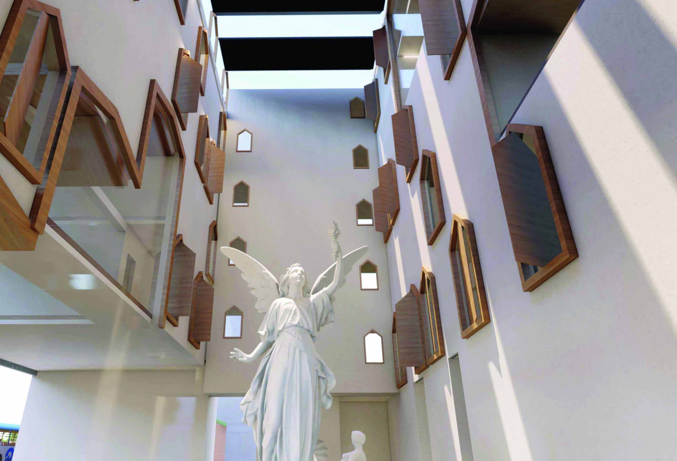 Interior rendering, lobby