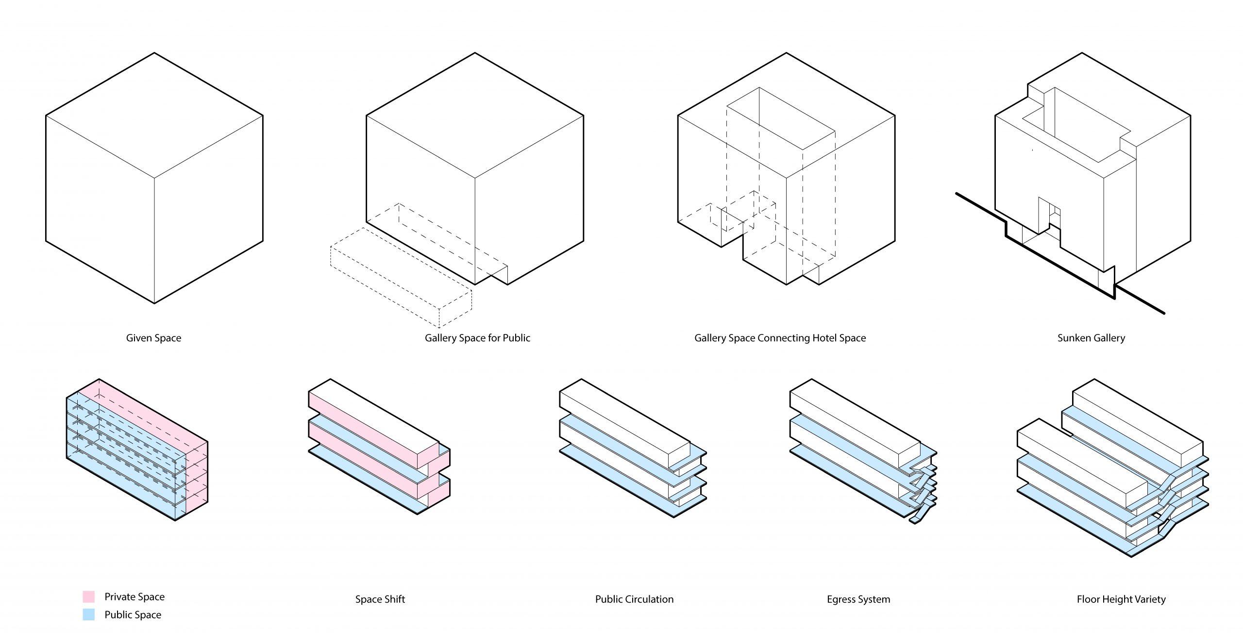 Building massing diagrams