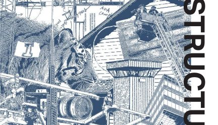 blue drawing cover of ricker report magazine