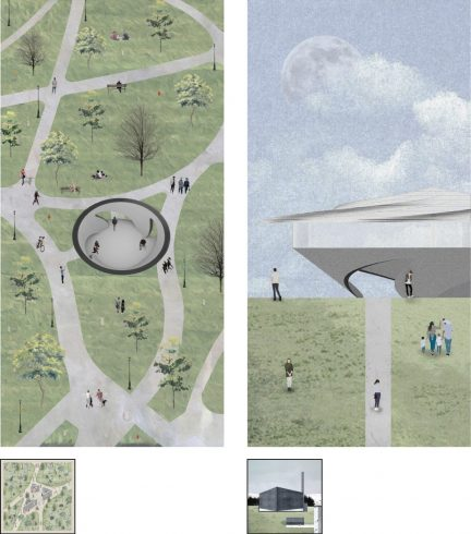 plan and elevation renderings using abstracted perspective