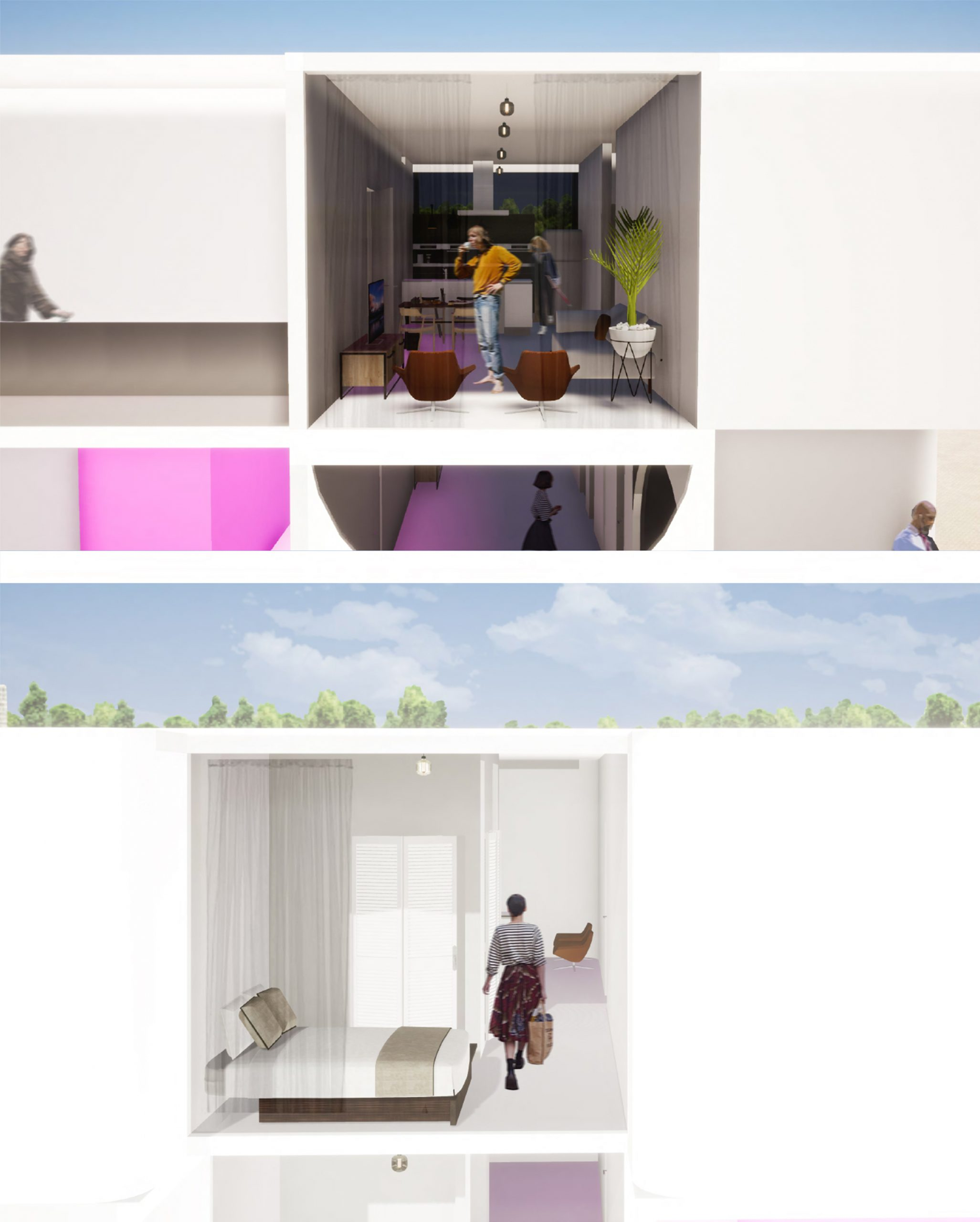 interior renderings of new apartment designs