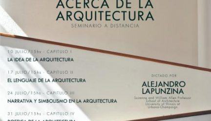 poster in spanish describing online seminar