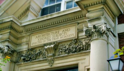motto on Architecture Building