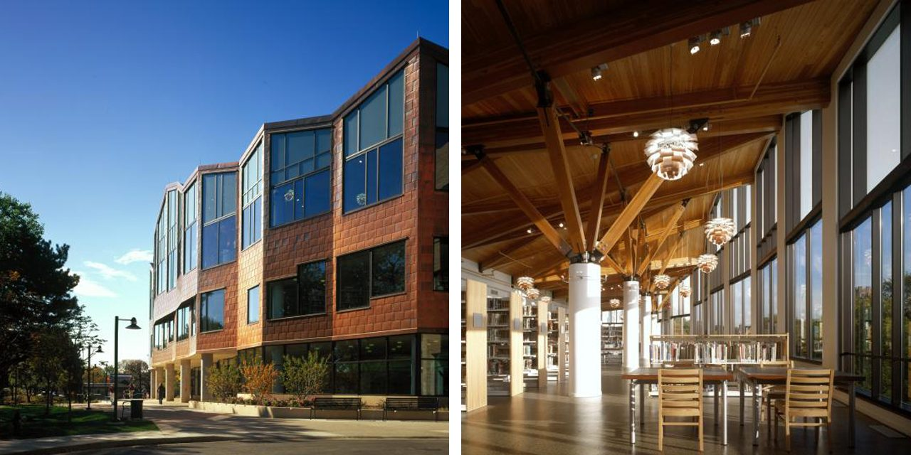 images of oak park library exterior and interior