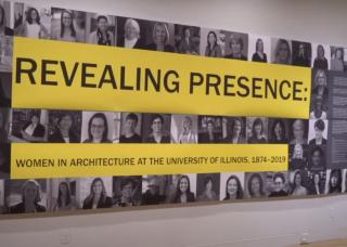 image of women's symposium exhibit titled