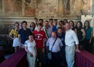 David M. Chasco with members of the Volterra International Design Workshop