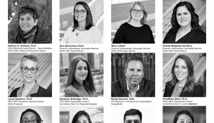 grid of faculty and student headshots in black and white