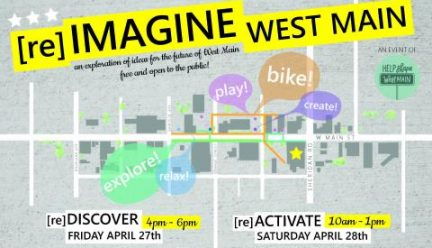 flier for [re]Imagine West Main design review