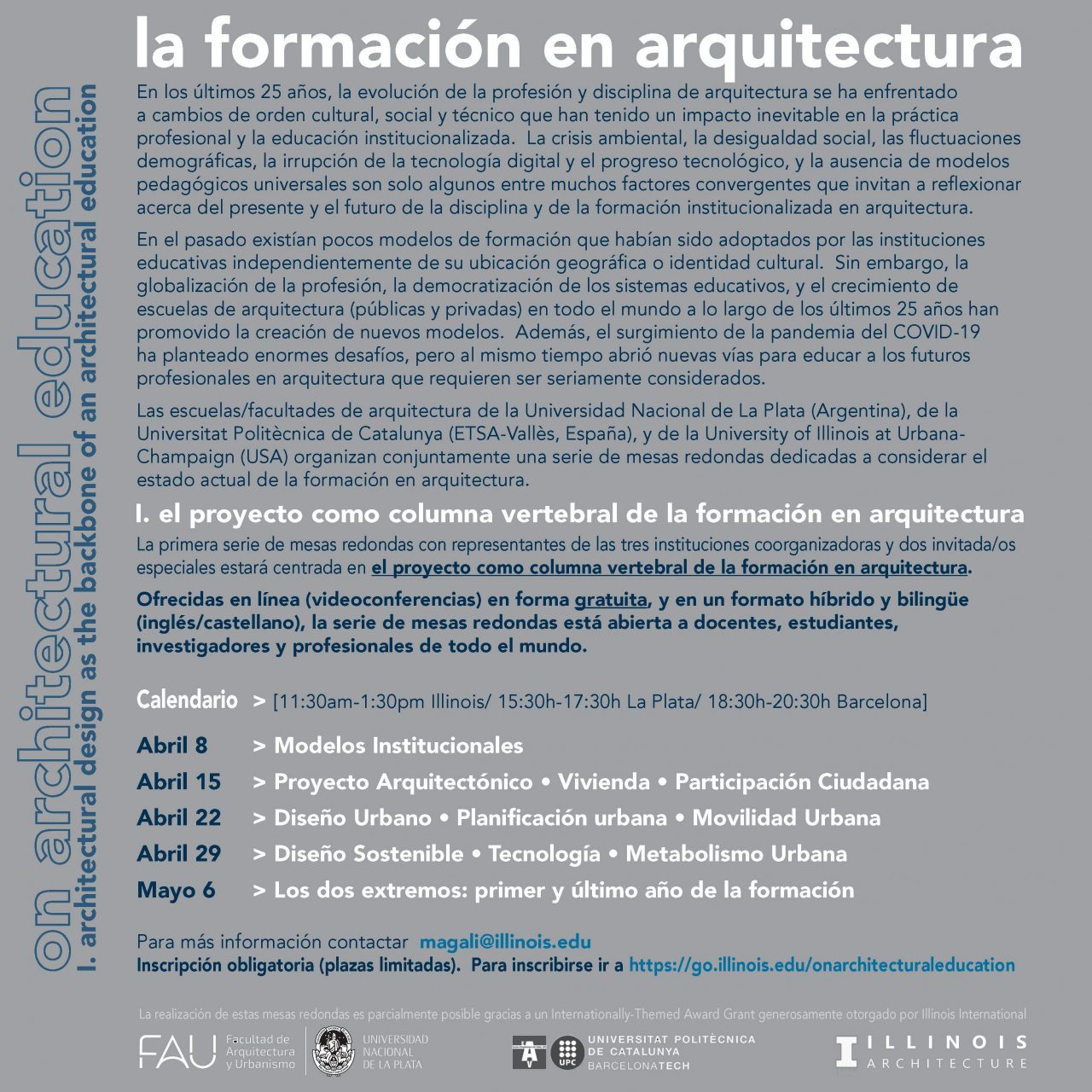 Spanish poster for roundtable event