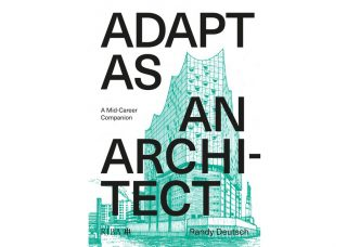 Adapt as an Architect book cover with teal image behind text